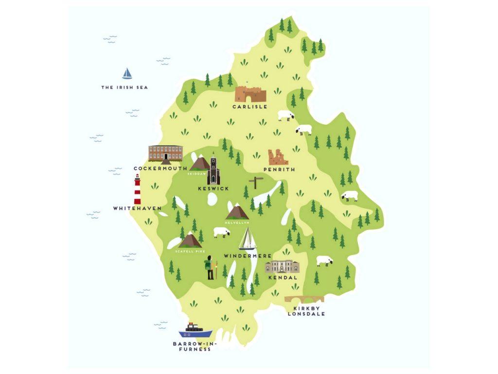 Mapa interactivo del Distrito de Los Lagos.