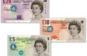 Dinero en Inglaterra