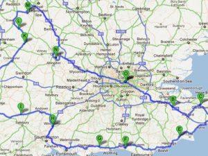 Mapa de las carreteras de Londres