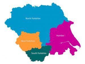 Mapa de Yorkshire