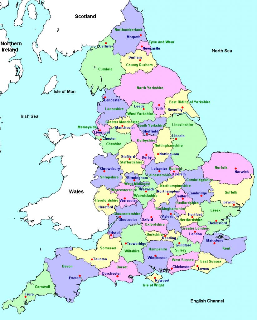 inglaterra no mapa Mapa de Inglaterra   Inglaterra.ws inglaterra no mapa