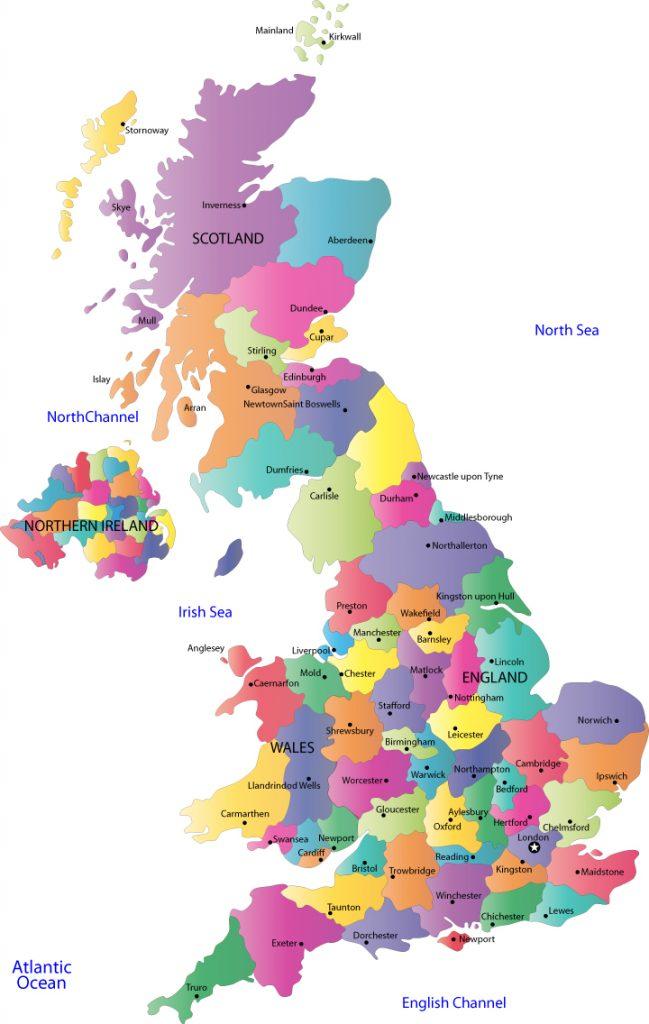 Mapa De Inglaterra Inglaterra Ws
