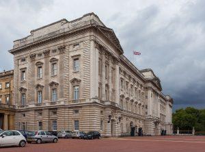 Vista oblicua del Palacio de Buckingham