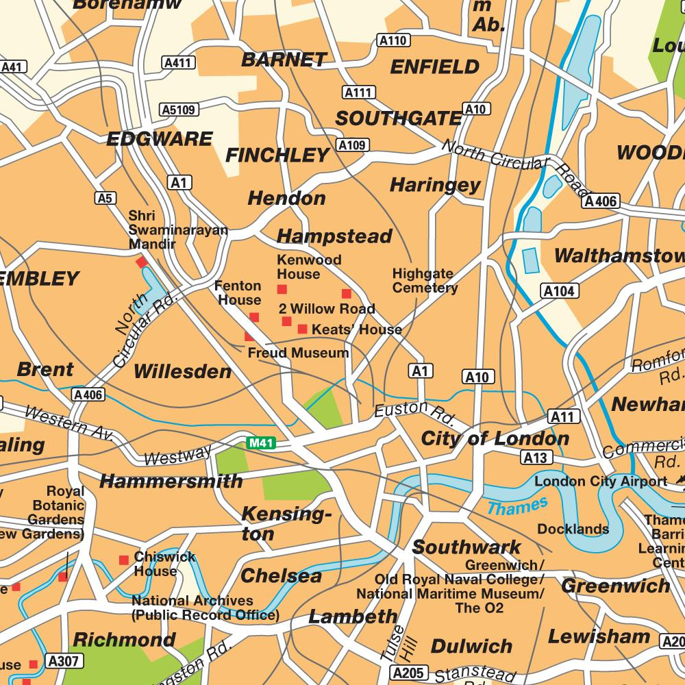 Londres En El Mapa.Mapa De Londres Inglaterra Ws