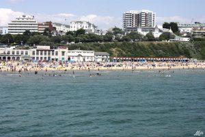 Hoteles en las playas de Inglaterra en verano.