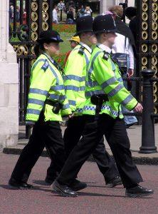 Police three on patrol london