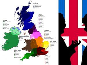 Mapa de lnglaterra por dialectos
