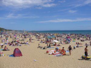 Verano en la playas de Inglaterra.