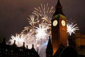 Celebración de Noche Buena en Londres, Inglaterra.