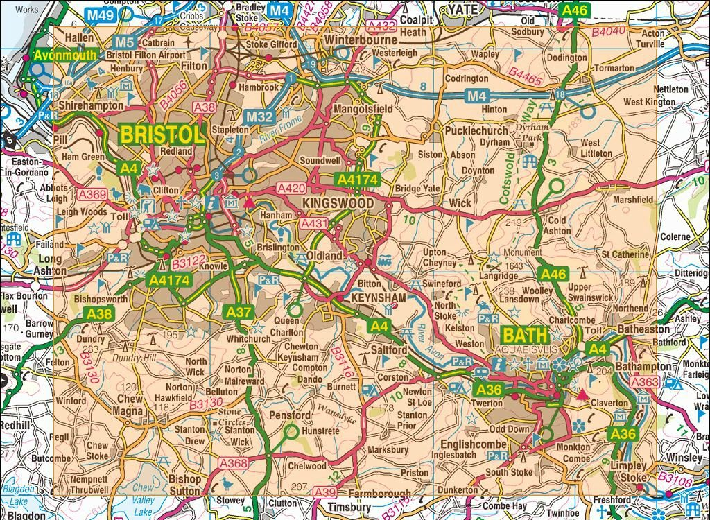 Mapa de Bath - Inglate...
